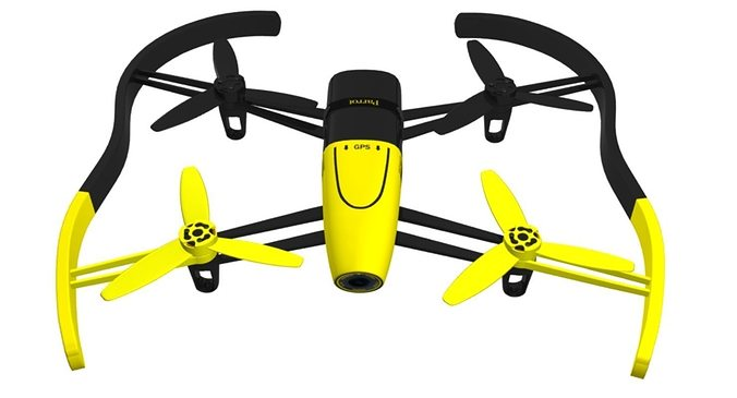 Parrot Bebop Drone Yellow 3d Model Max Obj 3ds Fbx Mtl 1