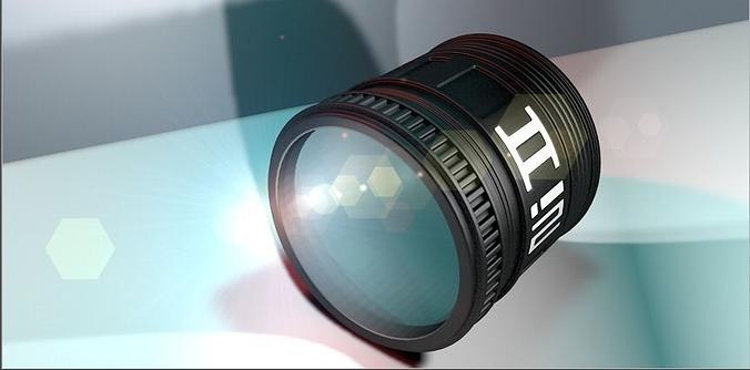 camera lens 3d model c4d 1