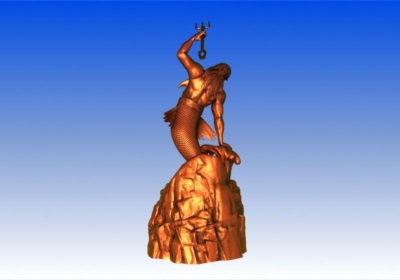 3d Printed Car Parts >> Poseidon Statue 3D Model 3D printable MAX OBJ STL