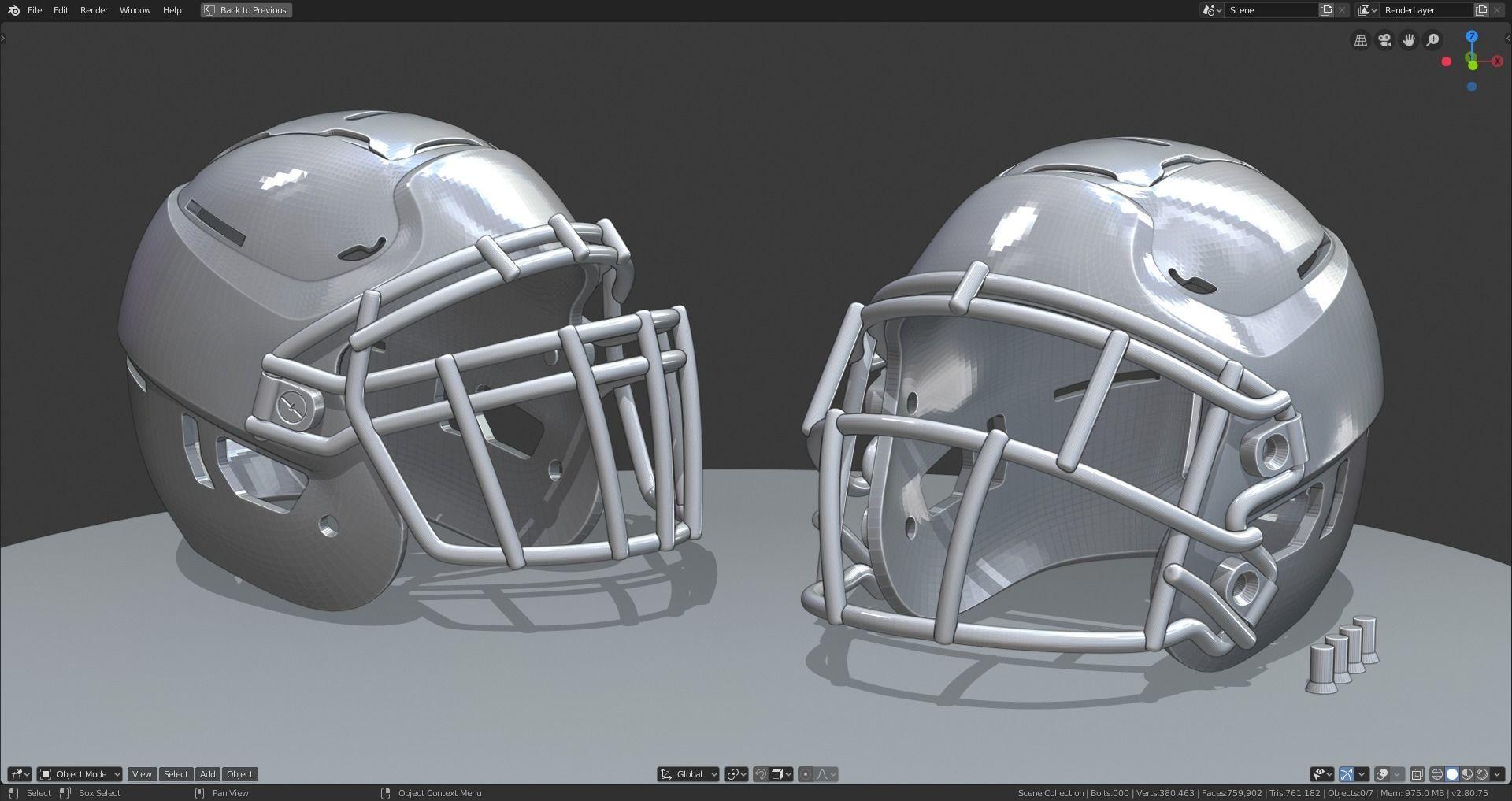 Modern Football Helmet Simplified