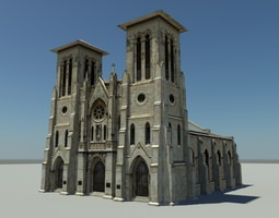 cathedral 3d asset VR / AR ready
