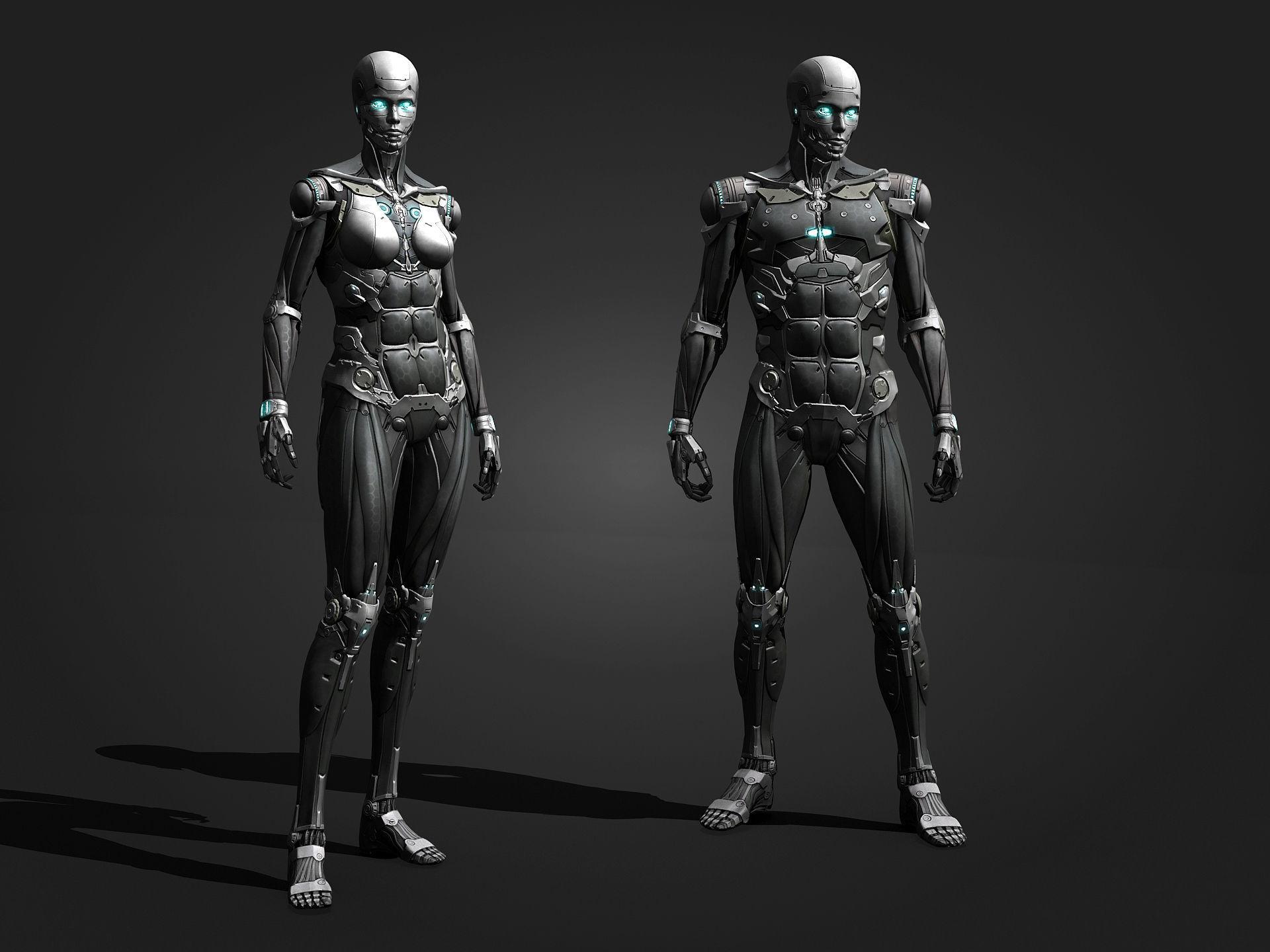 Cyborg Sci-Fi Robot