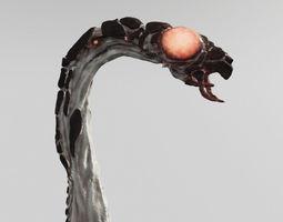 Space Worm 3D Model