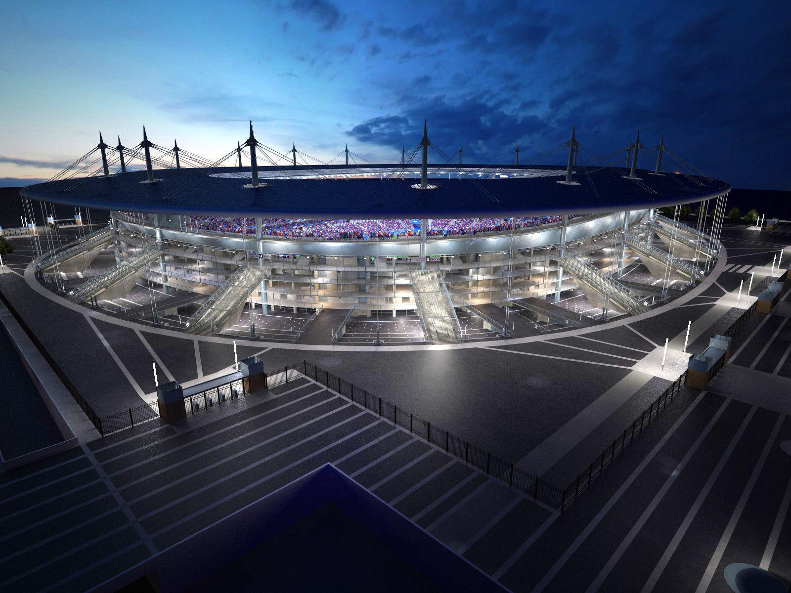 Stade de france 3d model max obj 3ds fbx c4d lwo lw lws - Superficie stade de france ...