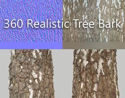 360 tree bark 1 realtime 3d model
