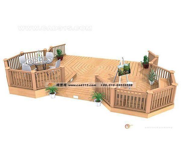 Stylish family home garden design 08 3d model 3ds for 3d home design with garden