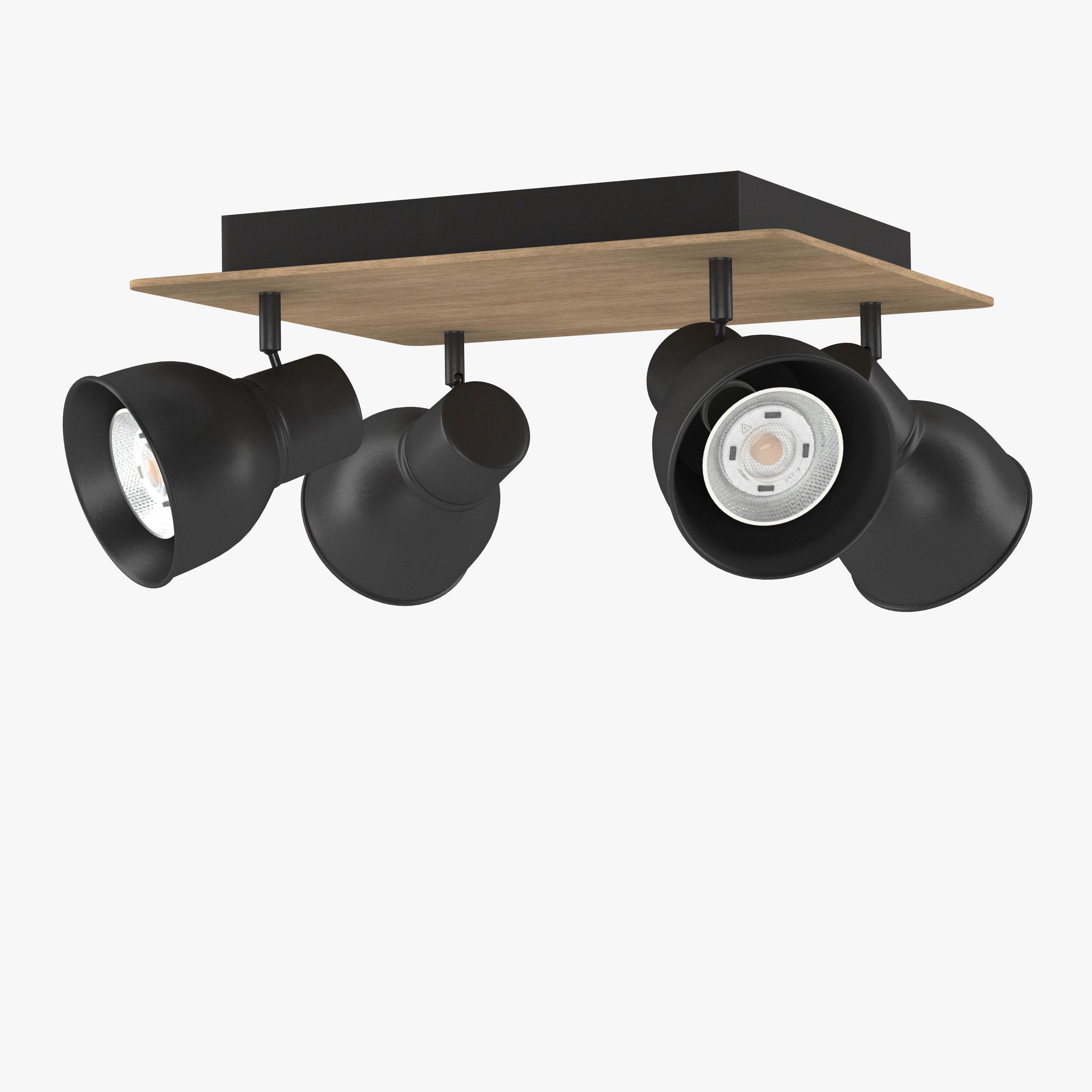 Ceiling LED spots wood