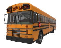 american school bus 3d asset realtime