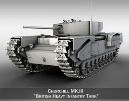 Churchill Infantry Tank MK III 3D model
