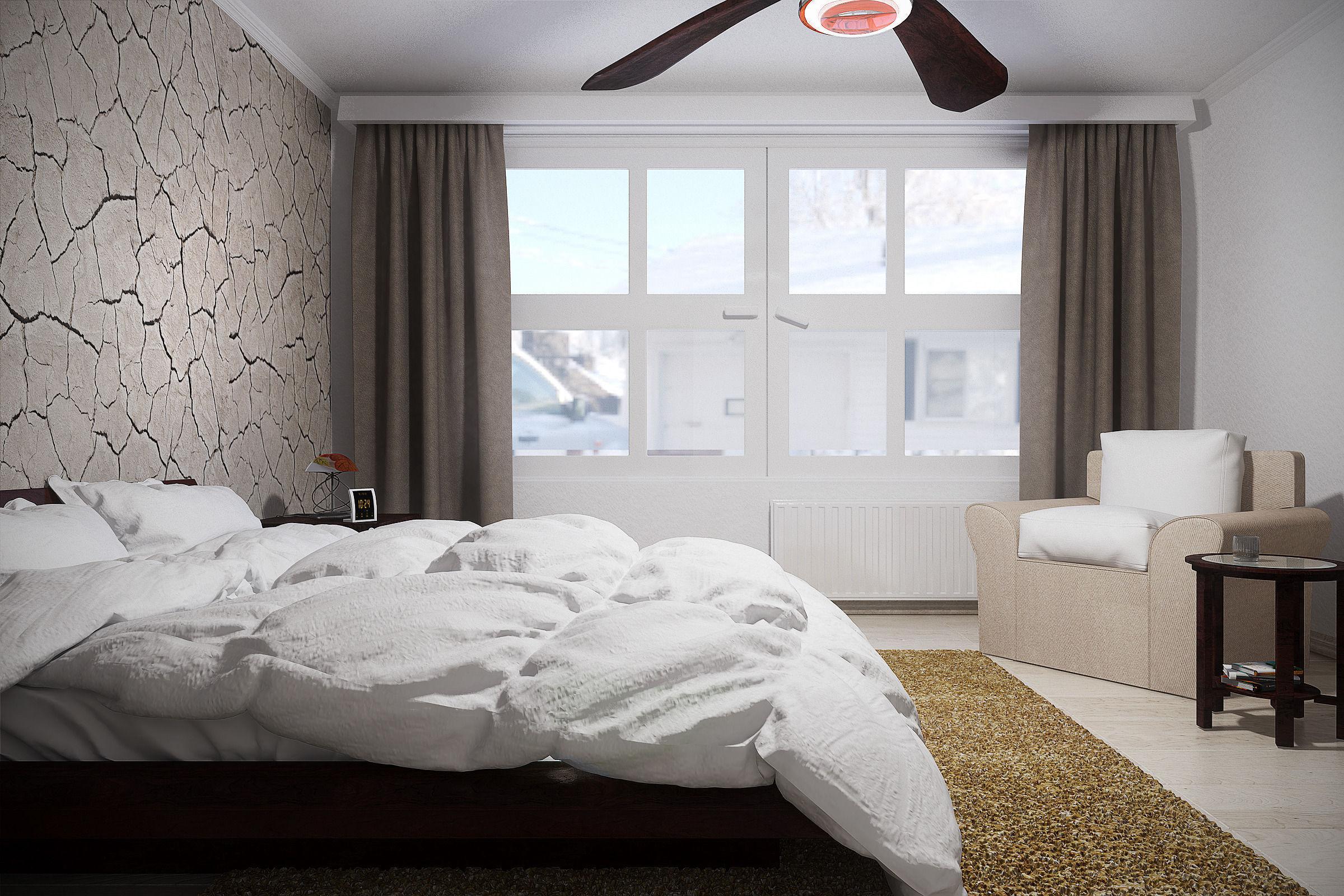 contemporary farmhouse bedroom design 3d model max obj mtl mat