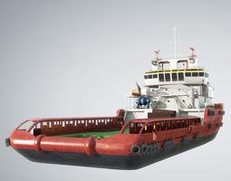 KVP Multi Purpose Offshore Vessel construction 3D model