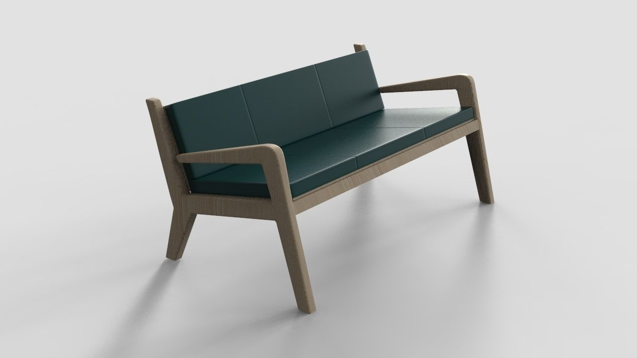 bench sofa 3ds fbx obj max 2020   CGTrader