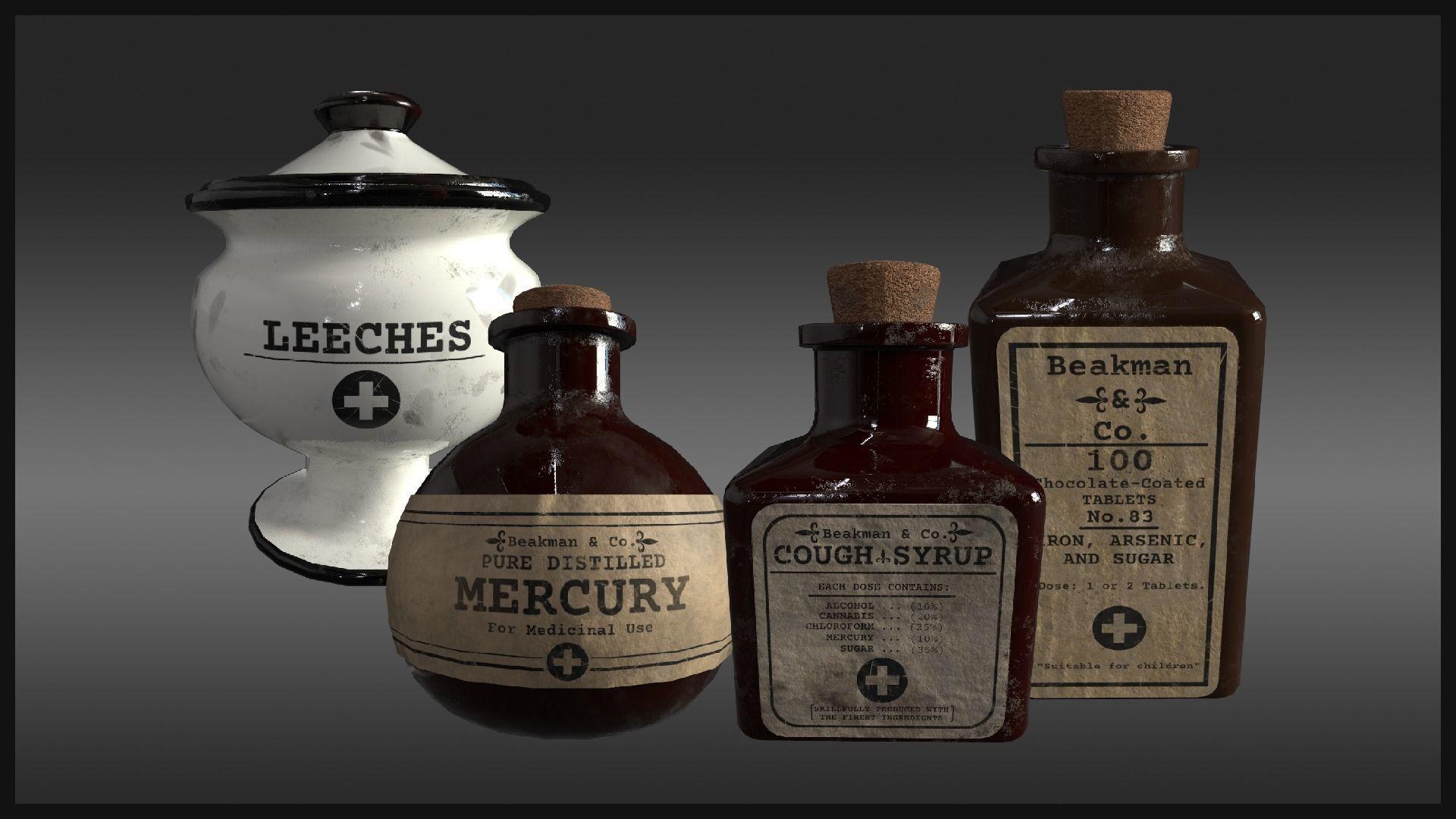 Plague Doctor Medicine Bottles