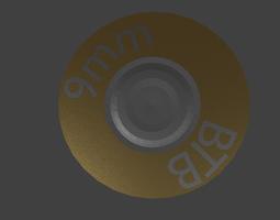 9mm bullet 3D asset