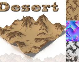 3d model desert