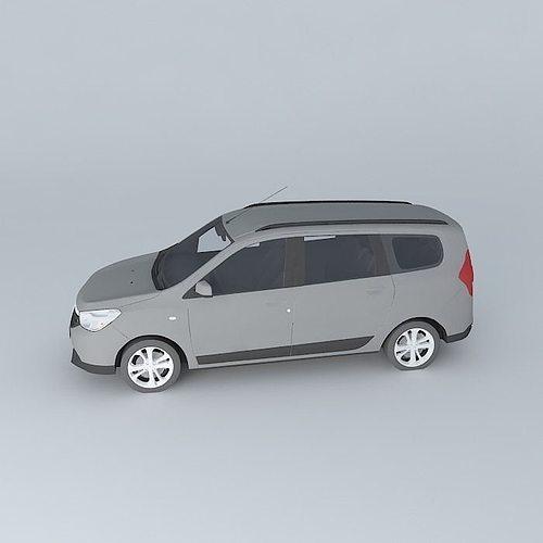 2013 Dacia Lodgy 3D Model MAX OBJ 3DS FBX STL SKP