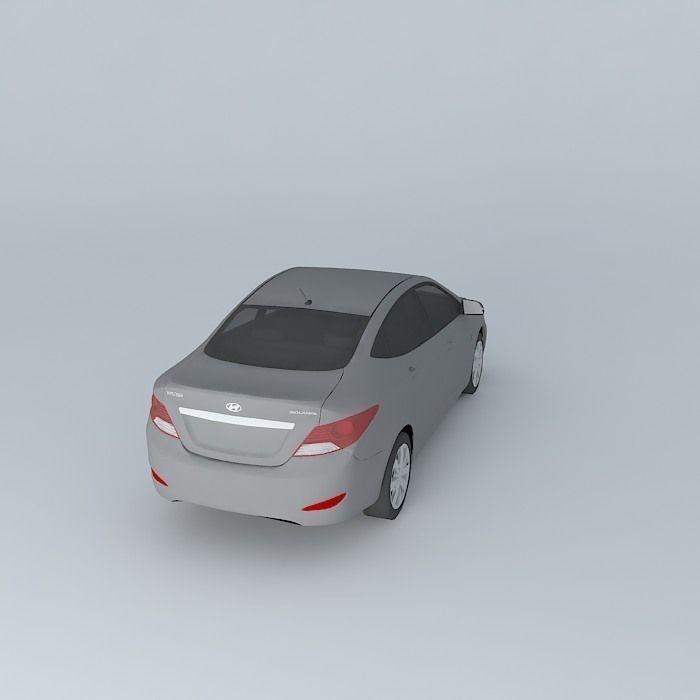 Top Of The Line Hyundai: Solaris 3D Model .max .obj .3ds .fbx