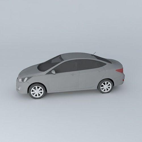 Top Of The Line Hyundai: Solaris 3D Model MAX OBJ 3DS FBX STL