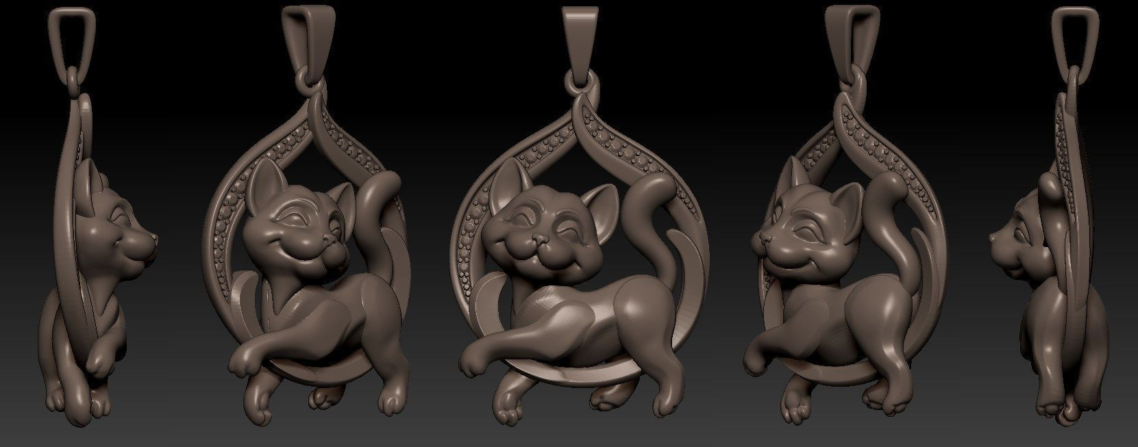 Cat Pendant for production 3D print model