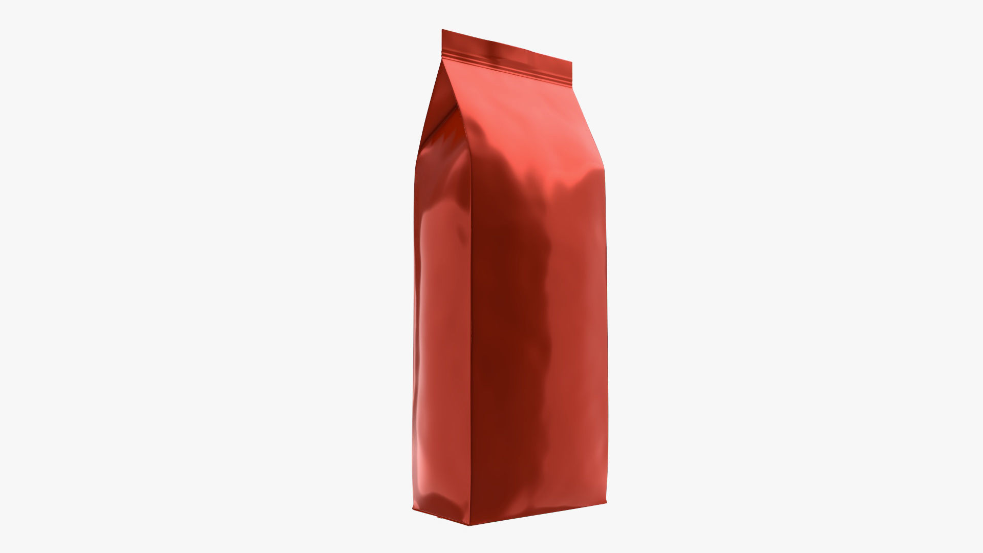 Plastic coffee bag package packet large mock-up