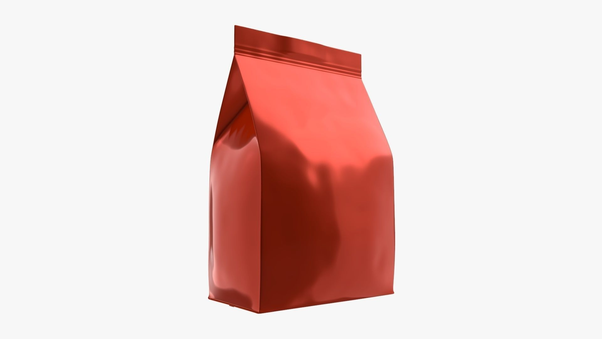 Plastic coffee bag package packet small mock-up