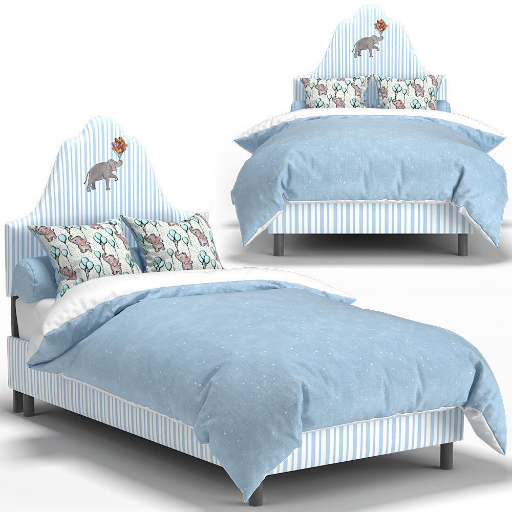 ONE KINGS LANE Elephant Stripe Bed