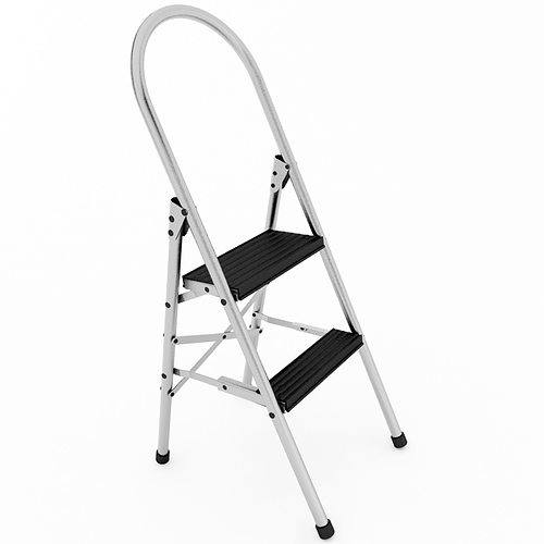 step ladder 3d model max obj 3ds wrl wrz mtl tga 1