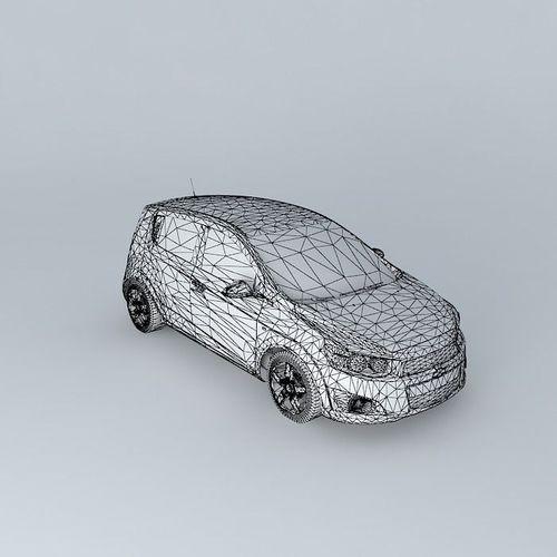 2011 Chevrolet Sonic Aveo 3d Model Max Obj 3ds Fbx