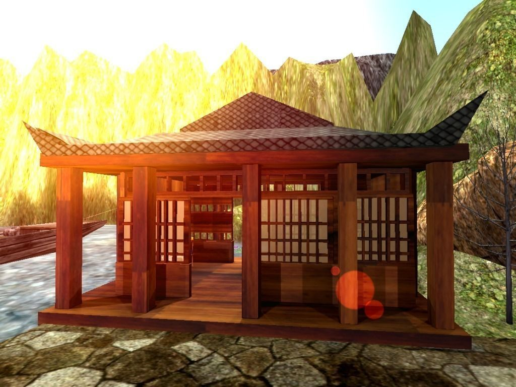 3d model traditional japanese building vr ar low poly for Japan dome house cost