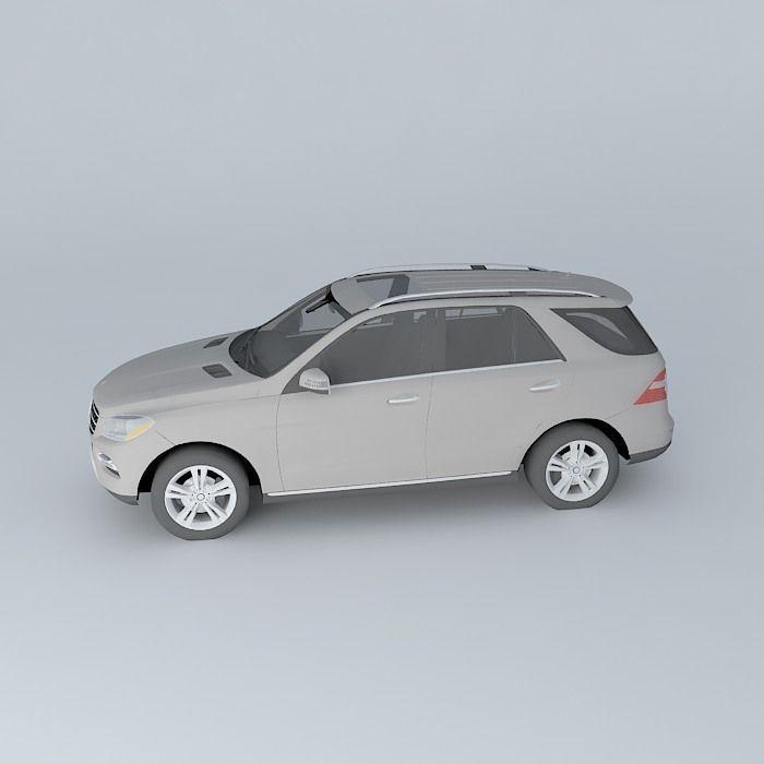 2012 mercedes benz m class 3d model max obj 3ds fbx for Mercedes benz 2012 models