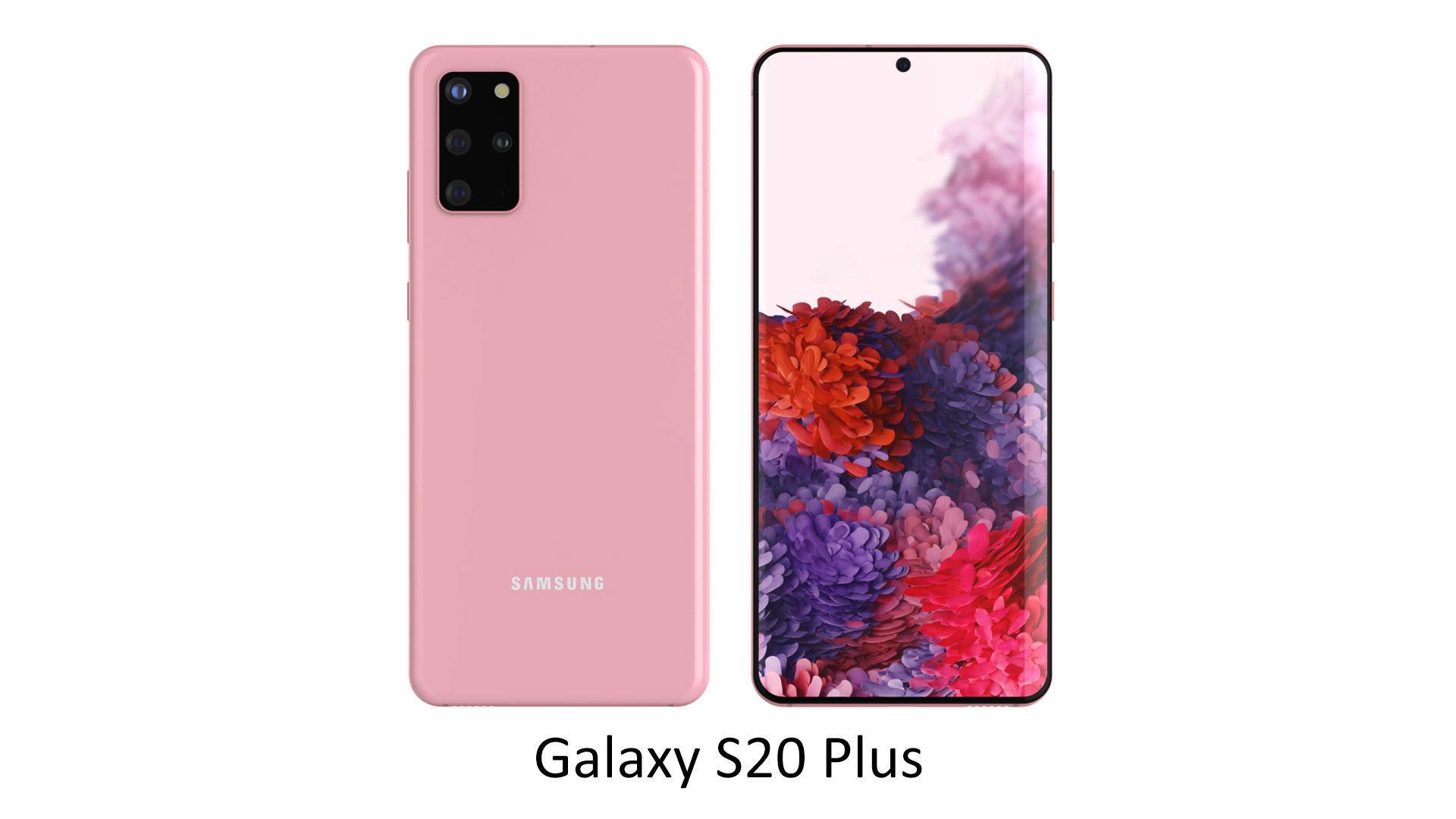 Samsung Galaxy S20 Plus Cloud Pink 3d Model Cgtrader