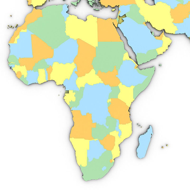 3d political world map cgtrader political world map 3d model max obj 3ds mtl tga 4 gumiabroncs Images