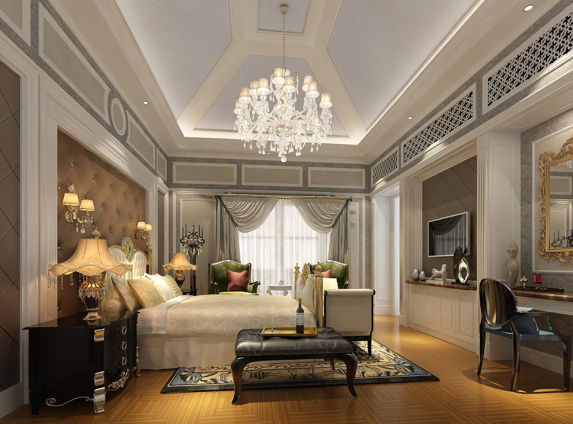 Luxury Bedroom 3D Model Max