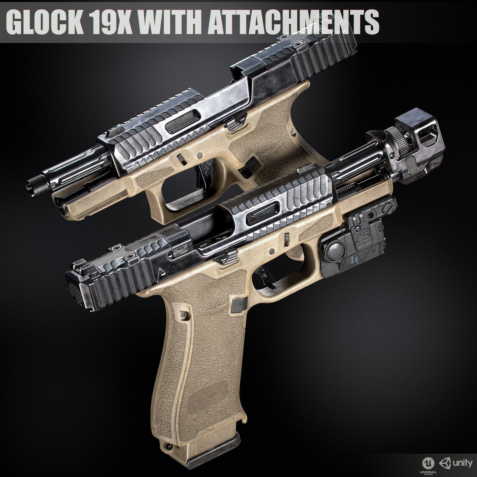Glock 19x custom with attachments