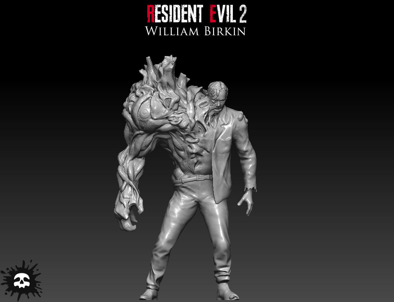 3d Printable Model Resident Evil 2 William Birkin