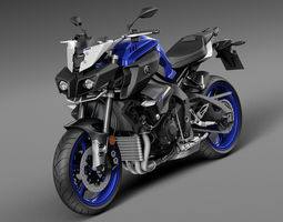 Yamaha MT-10 2016 3D Model