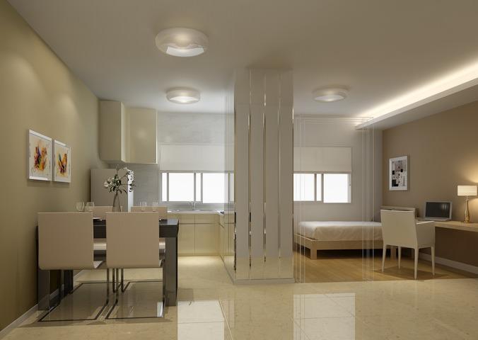 Small apartment 3d model max for Apartment mini model