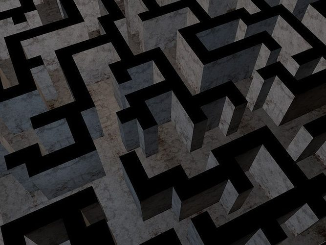 The Maze Low Poly Game Model