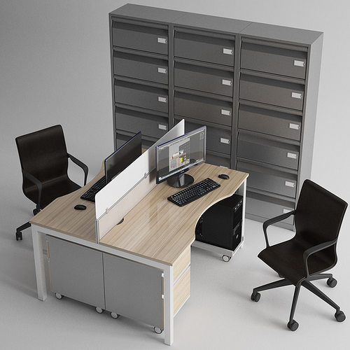 3d model office furniture monitor cgtrader