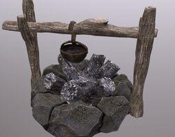 3D model camp fire