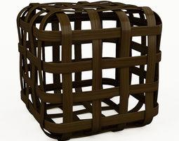3d model grid hassock