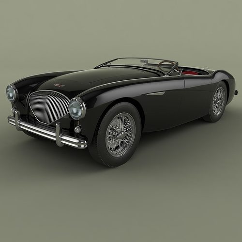 austin-healey 100-4 3d model max obj mtl 3ds fbx 1