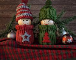 3D model Christmas dolls