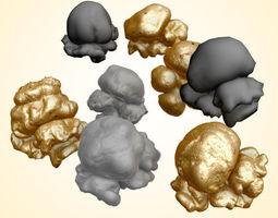 Popcorn Kernels 3D Model