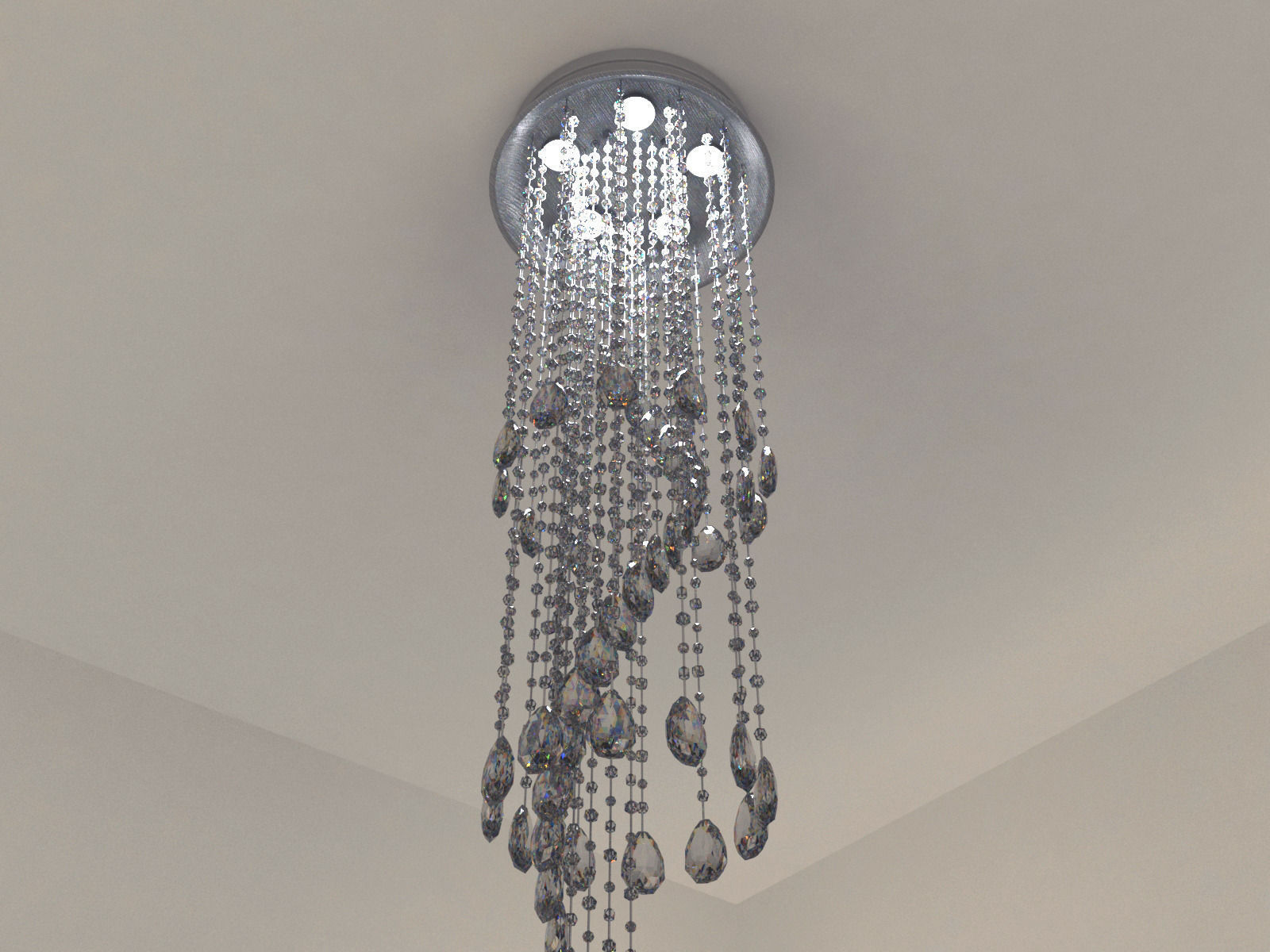 3d model modern crystal chandelier cgtrader modern crystal chandelier 3d model max obj 3ds fbx mtl tga 1 arubaitofo Image collections