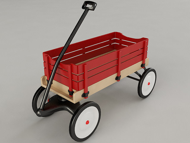 Wagons For Toys : D model toy wagon