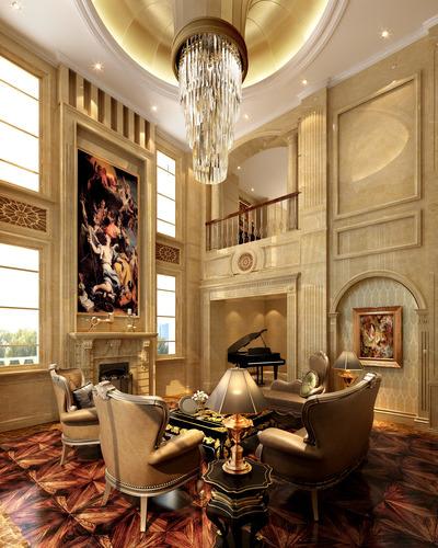 Luxury Homes Interior Decoration Living Room Designs Ideas: 3D Model Luxury Living Room Luxe