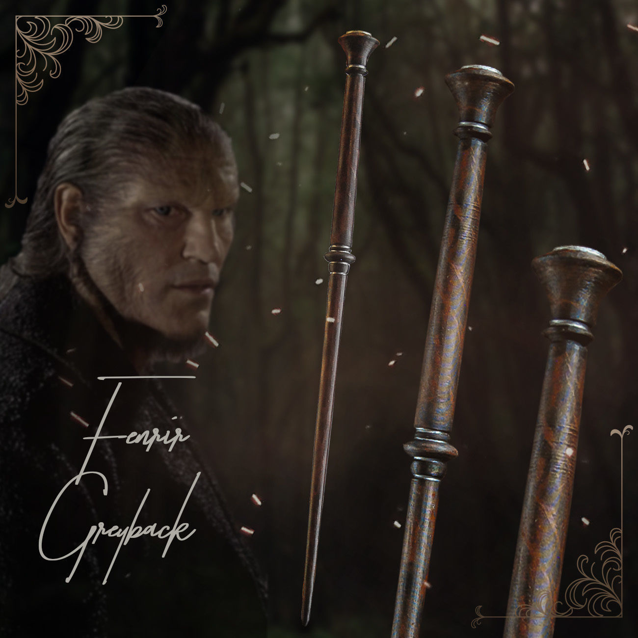 Fenrir Greyback Wand - Harry Potter