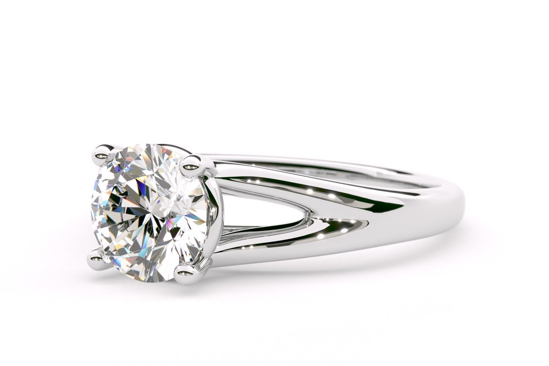 Coronado Split Shank Solitaire Engagement Ring