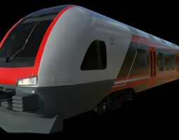 3D model low-poly NSB Stadler Flirt